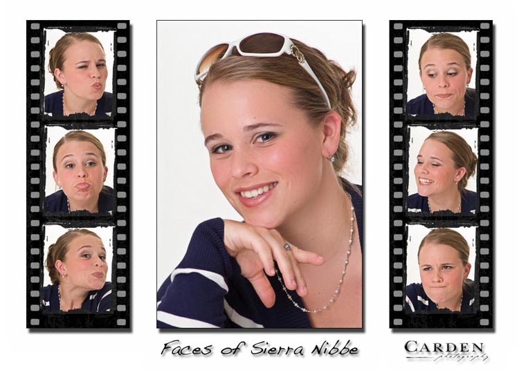 The Faces of Sierra - high school senior portrait wall collection on canvas wrap.