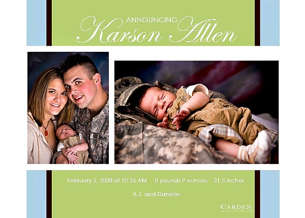 infant and family portrait in Madison, Wisconsin army baby