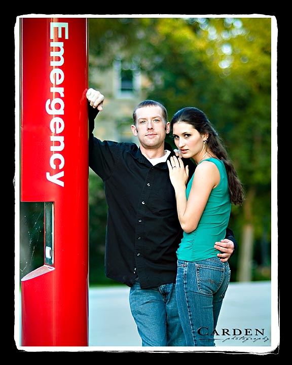 wedding photographer engagement photo at the univerisity of madison wisconsin