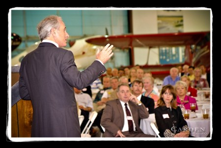 Bob Corker speaks to luncheon at the Beechcraft Heritage Museum in Tullahoma, TN.