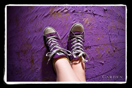 Allison's purple shoes